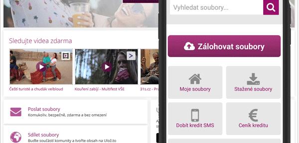 Ulozto_cz: Filmy a mp3 zdarma aplikace Ulož.to,